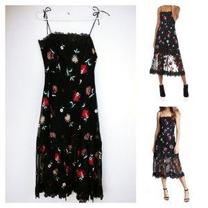 B.B. Dakota lace and embroidered black dress